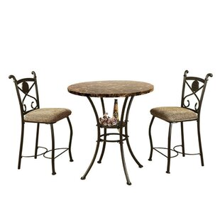 Boylan 3 Piece Counter Height Dining Set by Fleur De Lis Living