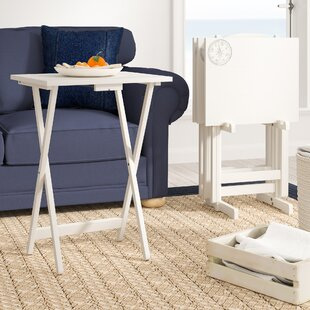 Find Ally 5 Piece TV Tray Table Set with Compass ByBreakwater Bay