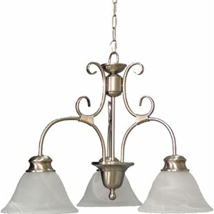 Troy 3-Light Shaded Chandelier by Volume Lighting