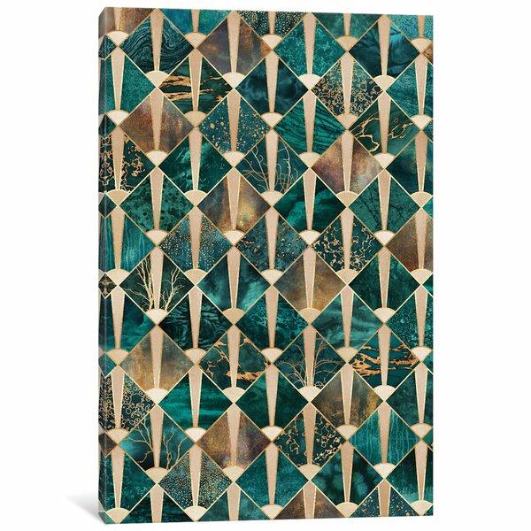 East Urban Home Art Deco Tiles I Graphic Print On Canvas Wayfair