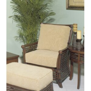 College Park Armchair And Ottoman by Acacia Home and Garden