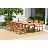Lounsbury Outdoor 9 Piece Teak Dining Set