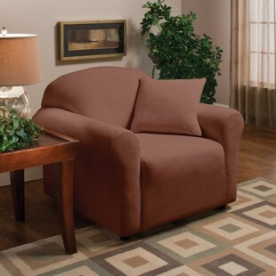 Stretch Microfleece Box Cushion Armchair Slipcover