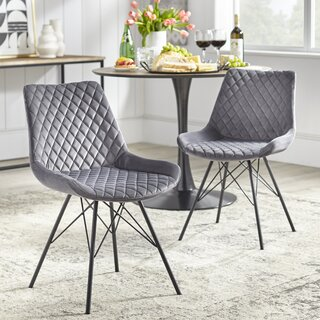Almen Upholstered Dining Chair (Set of 2) by Wrought Studio SKU:EB528622 Order
