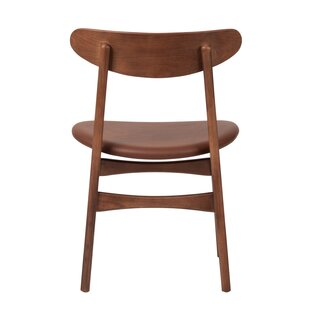 Hagerty Leather Upholstered Dining Chair by George Oliver