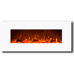 Ivory Wall Mount Electric Fireplace by Zipcode Design