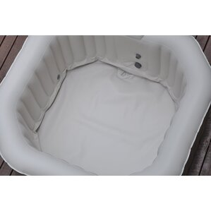 deluxe 6 person 130jet inflatable plug and play spa with ocare startup - Wayfair Hot Tub