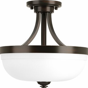 Dolla 1-Light Semi Flush Mount by Red Barrel Studio