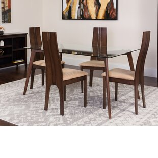Hutchcraft 5 Piece Solid Wood Dining Set by Winston Porter