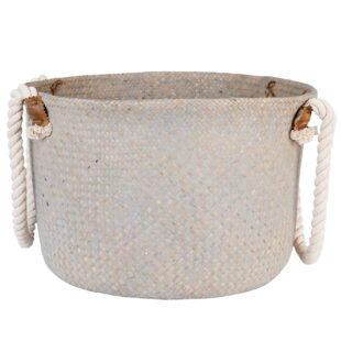 Rope Handle Wicker Basket By Symple Stuff