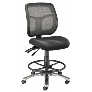 Argentum Mid-Back Mesh Drafting Chair by Alvin and Co. Fresh