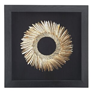 Shadow Box Black And Goldwall Décor