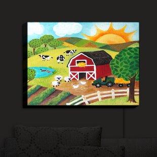 August Grove Daybreak on the Farm' Print on Fabric