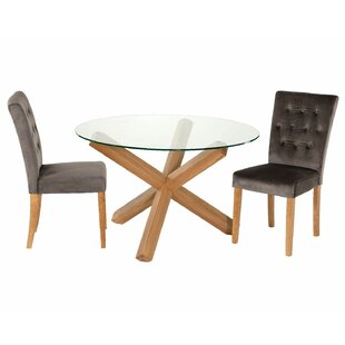 Orobanche Dining Set With 2 Chairs By August Grove