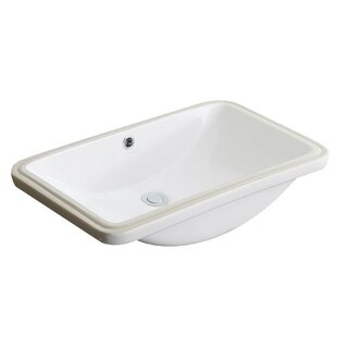 Comparison Lanmia Series Vitreous China Rectangular Undermount Bathroom Sink with Overflow By ANZZI