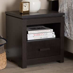 Lauren 1 Drawer Nightstand by Andover Mills