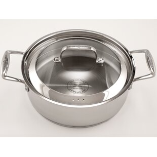 Stainless Steel Saucier with Lid