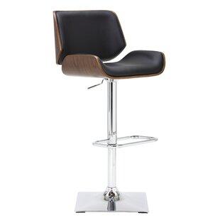 Capra Adjustable Height Swivel Bar Stool by Orren Ellis