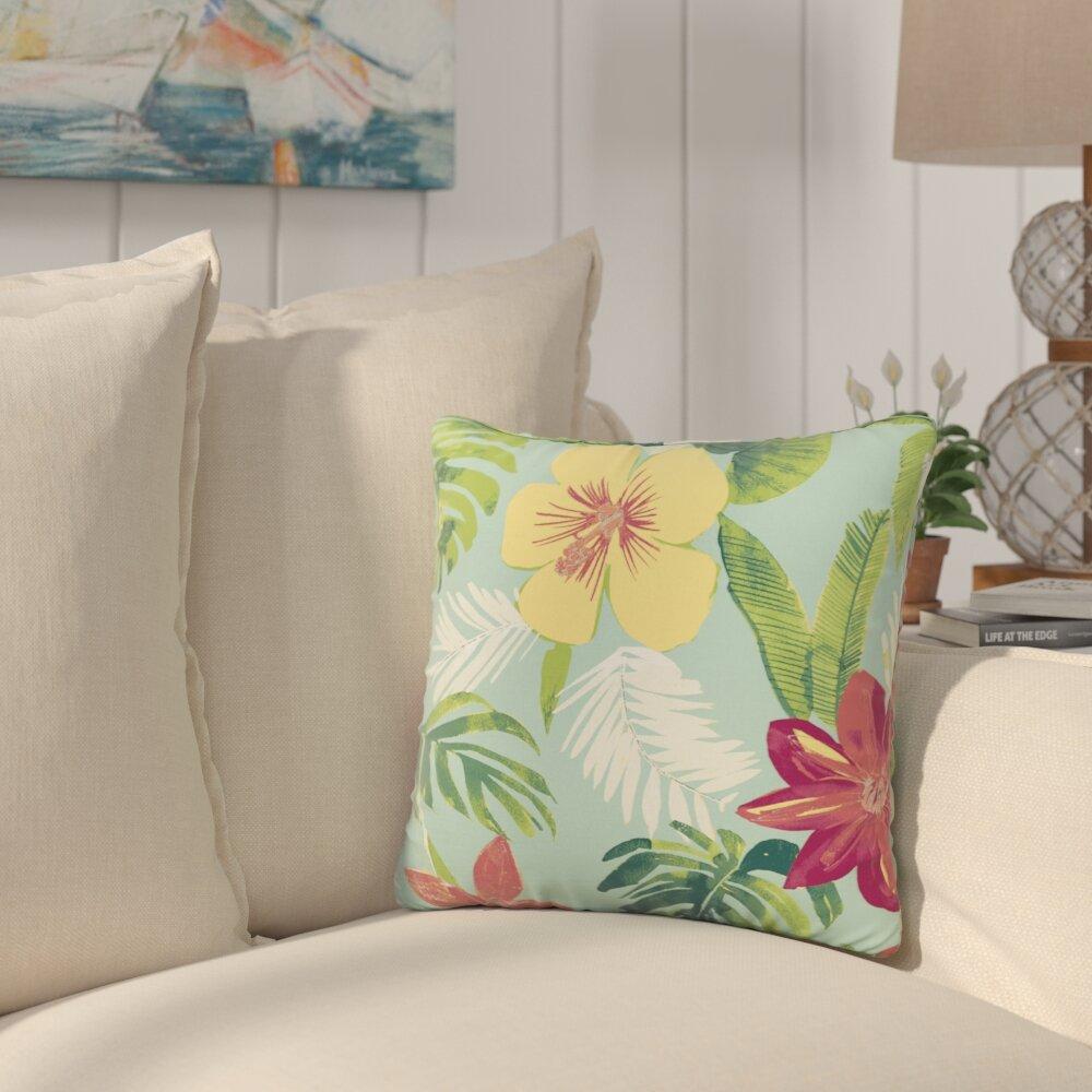 Bayou Breeze Kitts Tropical Outdoor Throw Pillow Wayfair