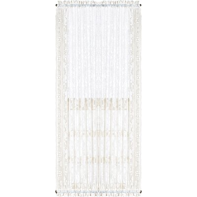 """United Curtain Co. Windsor Solid Sheer Rod Pocket Single Curtain Panel Colour: White, Size per Panel: 72"""" L x 40"""" W"""