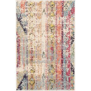Ady Beige Orange Area Rug