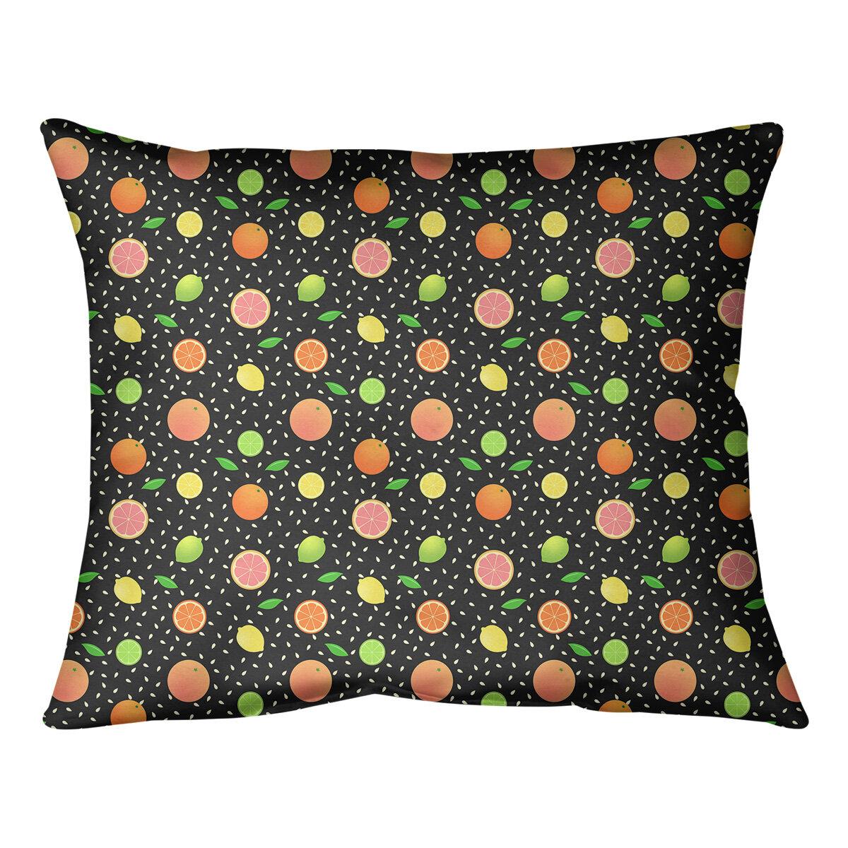 East Urban Home Mcguigan Citrus Fruit Lumbar Pillow Wayfair