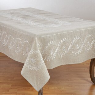 Gatto Embroidered Floral Table Cloth