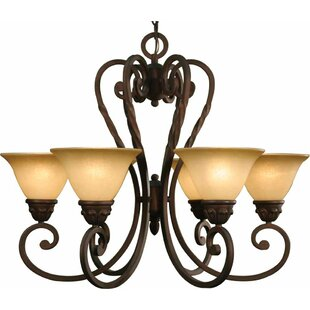 Volume Lighting Isabela 6-Light Shaded Chandelier