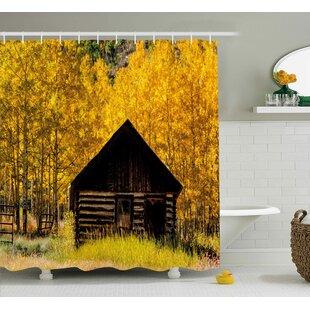 Bleeker Farmhouse in Aspen Tree Single Shower Curtain