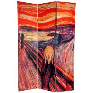 Pisano The Scream 3 Panel Room Divider by Winston Porter