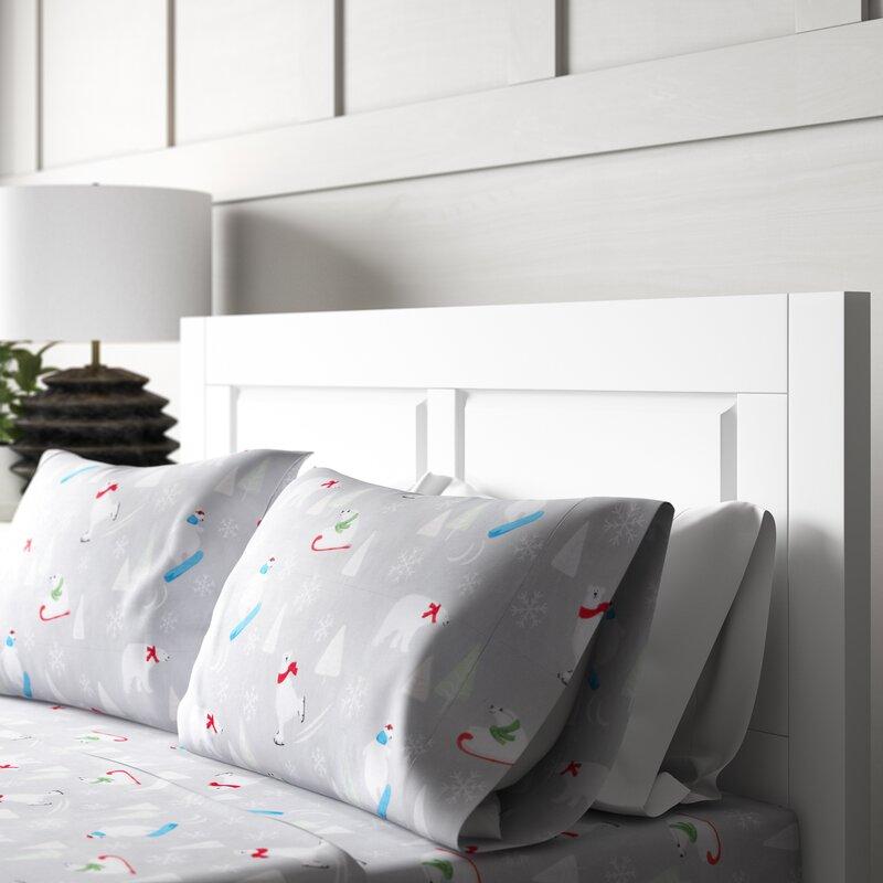Millwood Pines Melstone 100 Cotton Flannel Sheet Set Reviews Wayfair