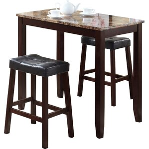 Exceptional Daisy 3 Piece Counter Height Pub Table Set
