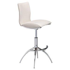 guttenberg adjustable height swivel bar stool set of 2