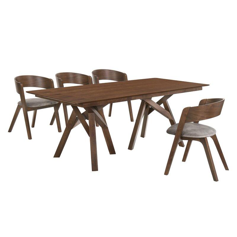 Corrigan Studio Schott 5 Piece Breakfast Nook Dining Set Wayfair