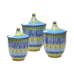 3 Piece Stoneware Storage Jar Set