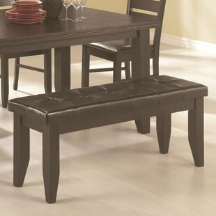 Red Barrel Studio Sirois Comfy Dining Leather Bench
