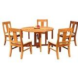 Kevon 6 Piece Teak Dining Set