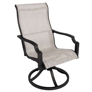 Konevsky Swivel Patio Dining Chair (Set of 2) by Red Barrel Studio
