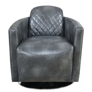 Williston Forge Mayweather Swivel Barrel Chair