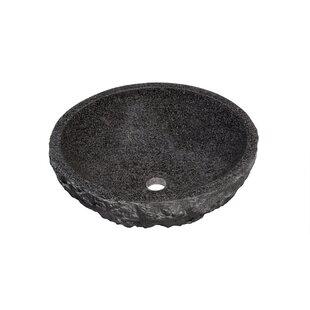 Novatto Absolute Stone Circular Vessel Bathroom Sink