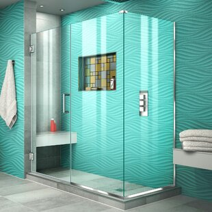 Unidoor Plus 60.5 x 72 Hinged Frameless Shower Door with Clear Max Technology by DreamLine