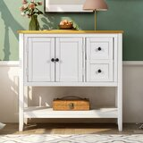 Heng 36 Solid Wood Console Table by Longshore Tides