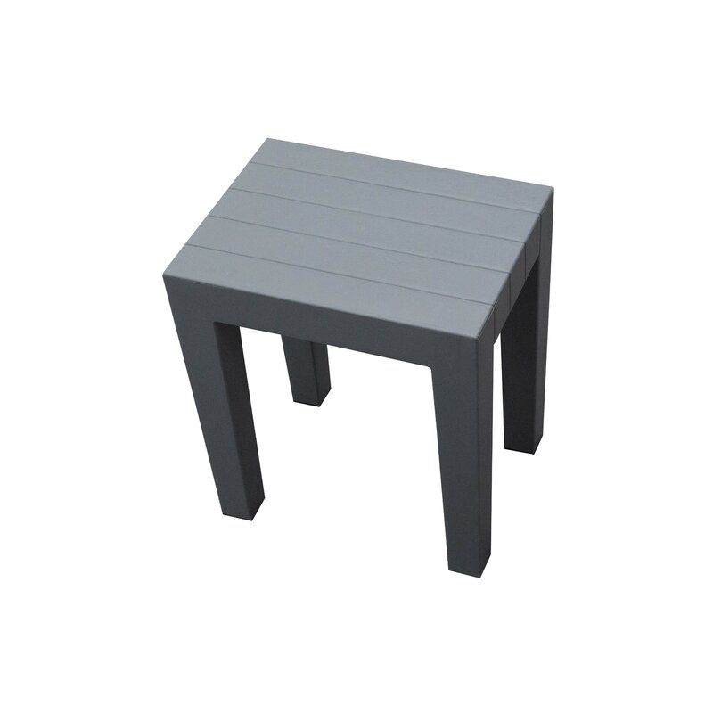 Design by Intent Indestructible 15-Inch Bathroom Stool in Grey