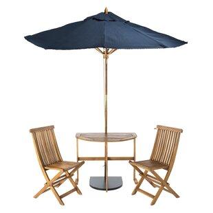 Andover Mills Southington 5 Piece Bistro Set with Umbrella
