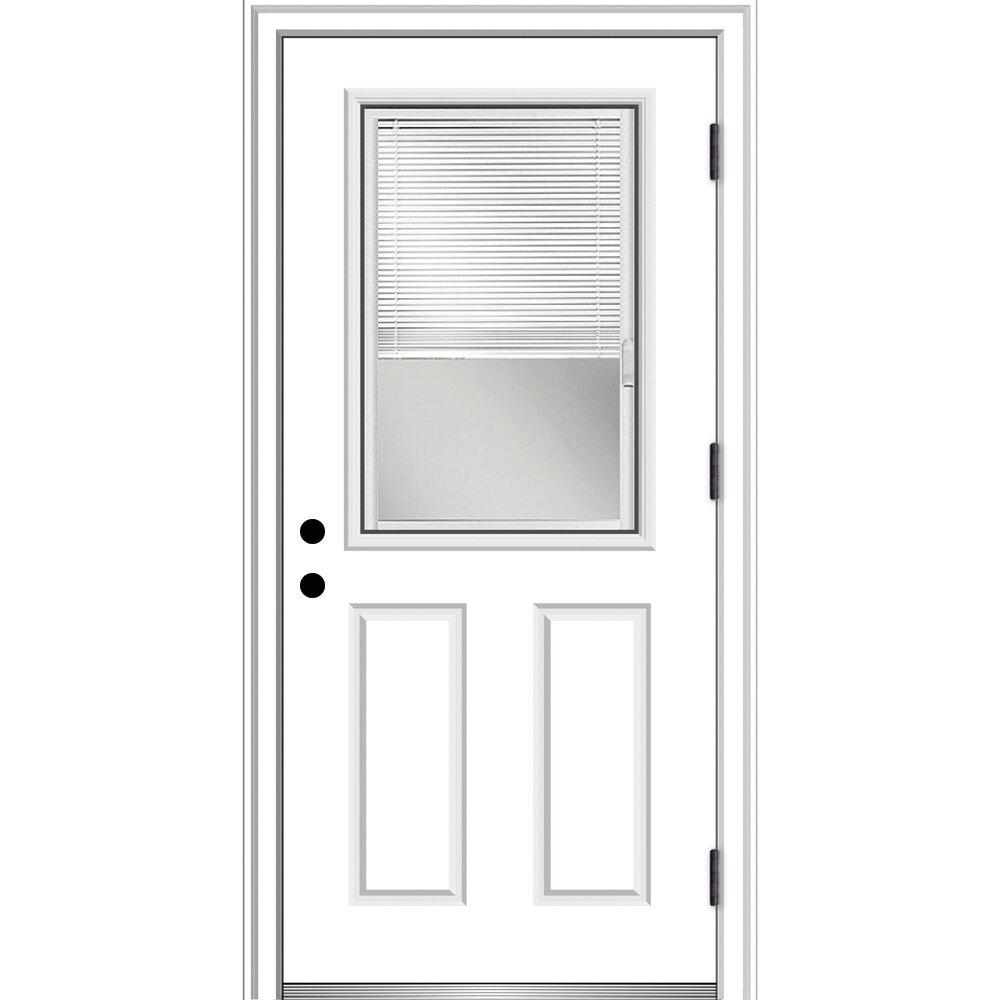Verona Home Design Severe Weather Primed Fiberglass Prehung Front Entry Door Wayfair
