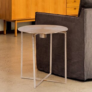 Liptak Spiral Top End Table by World Menagerie
