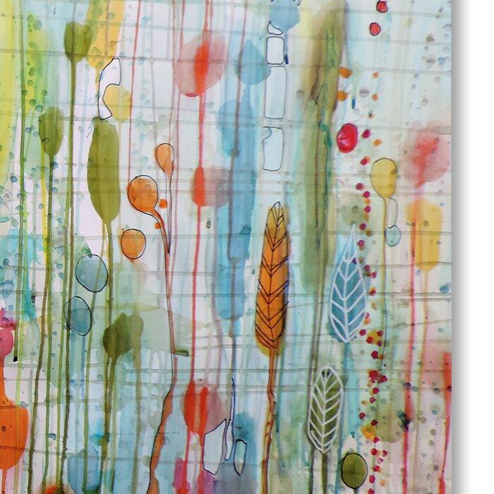 Une Ame Dans Le Jardin Graphic Art Print On Wrapped Canvas