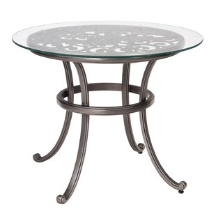 Woodard New Orleans Bistro Table with Glass Top (Set of 2)