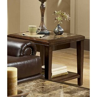 Kempst Inlay End Table by Fleur De Lis Living