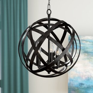 Ivy Bronx Nilsa 3-Light Globe Chandelier